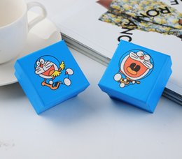 [Simple Seven] (30pcs lot) Sky Blue Jewelry Box, Doraemon Lovers Ring Box, Lovely Comic Gift Package,Cute Cartoon Pendant Case