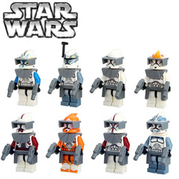 Wholesale 2016 New Star Wars The Force Awakens Clone Trooper Mini figures Command Minifigures Building Blocks Toys