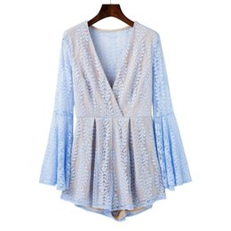2018 European and American high quality fashionable women's wear new sexy trumpet sleeves embroidered printed dress
