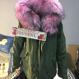Wholesale Vivian C Hot Brand Mr Mrs Fur Italy Design Women Genuine Wolf Fur Parka TOP Quality Edition Best LOGO