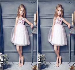 2016 girls pink tutu dresses kids floral clothes children summer sleeveless clothing high quality princess dress size 100-150cm
