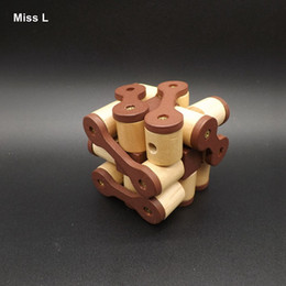 Education And Mental Development Snake Wood Cube Toy Adult Luban Lock Puzzle Gift Teaching Prop Mind Game