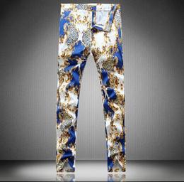 Wholesale Top Sales Hiphop streetwear zipper boy s cargo clubwear pants slim Patched jeans Toursers Famous Tags men snake punk boy jeans