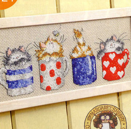 100% Cotton Thread Needlework DIY Cross Stitch Sets For Embroidery Kits No Printed Cartoon Counted Cross Stitch Sets