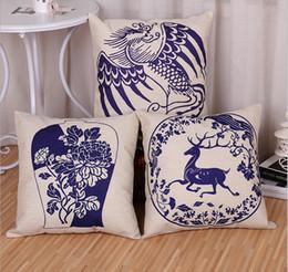 Wholesale Chinese ancient porcelain pillow cover pattern cm cm car cushion sofa cushion cushion covers