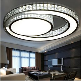 modern crystal ceiling lamp bedroom lights luminarias de led living room light plafondlamp fittings flushmount lighting