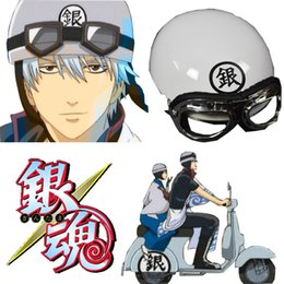 Wholesale-Free Shipping Gintama Silver Soul Gintoki Sakata Electric motor car Hat Helmet Anime Accessories