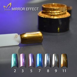 Wholesale New Arrival g bottle Mirror Nail Glitter Powder Colors Gold Silver Pigment Ultrafine Powder Aluminium Nail Art Sequins