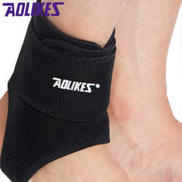Wholesale 1 Aolikes Adjustable Ankle Support brace pads ankle protector Guard Support Football Basketball Running Basketball Jogging Black L XL