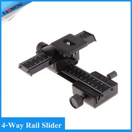 Wholesale 4 Way Macro Focusing Focus Rail Slider Close up Shooting for Camera and DC with Standard quot Screw Hole
