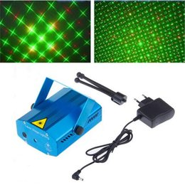 Portable Mini Laser Stage Lights LED Red Green Bulb Lighting Adjustment DJ Party Home Wedding Club Projector With EU US UK AU Plug