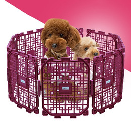 Wholesale New Arrival Playpen for Dogs Cat Puppy Pet Fence Indoor Outdoor Cage Exercise Pens Safety Door Stair Room Pet Secure Fence JJ0041