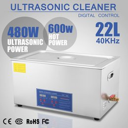 Wholesale 22L L ULTRASONIC CLEANER W Digital Ultrasonic Cleaner Heater Timer SKIDPROOF FEET FREE WARRANTY V