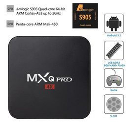 Wholesale MXQ PRO Android TV Box Amlogic S905 Quad Core1GB GB Kodi Full loaded add ons WiFi K p Better than Old MXQ