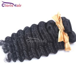 Wholesale Cheap Great Hair - Great Brazilian Deep Curl Hair Extensions 4pcs Brazilian Deep Wave Hair Wefts Cheap Remi Human Hair Weave Natural Curly Bundles Deals
