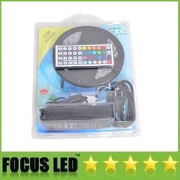 5050 RGB Led Strips Set 5m Waterproof 12v Led Light Strips + 44key Remote Control + 12V 6A Drivers With US AU US UK Plug