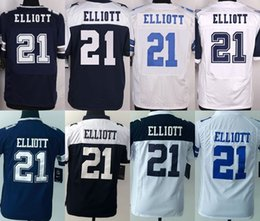Wholesale Factory Outlet DALLAS EZEKIEL ELLIOTT Blue White Thanksgiving White Blue Men s Women s Kid s ELITE GAME LIMITED All stitched Jerseys