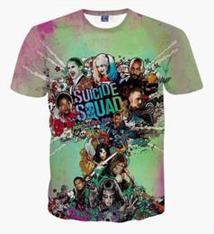 Wholesale-2016 New Deadpool Suicide Squad Women Mens Harley Quinn Joker T Shirts 3D T shirt Man  Summer Movie T-shirt Streetwear