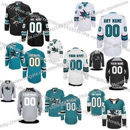 Wholesale Cheap NEW Customized San Jose Sharks Men s Women Kids High quality Retro Hockey Jerseys Custom Name Number jersey