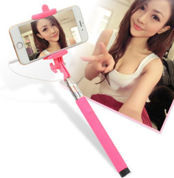 Z07-5S wired Selfie Stick Audio cable Handheld Extendable Monopod iOS Android Self Timer For iPhone 6 Samsung Cheap