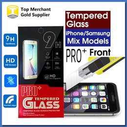 Wholesale Factory price Ultra Thin PRO H Tempered Glass Screen Protector High quality For iPhone s Plus Galaxy S7 A9 J7 Retail Package