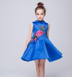 2016 New Kids Summer Pincess Dress Girl Pinting Cotton Dress New Arrival Casual Sleeveless Dress Children Clothing