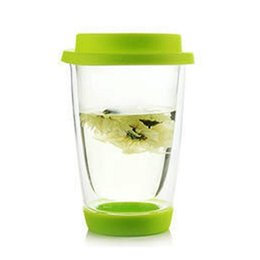 Wholesale New Transparent Double Layer Glass Cups Coffee Milk Tea Heat Insulation Cup Drinkware Gift Tea Cup Coffee Mug