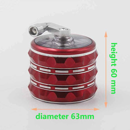 Wholesale new Christmas the Tobacco Grinder Product mm diameter height of mm CNC lightning lines teeth piece combination
