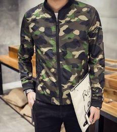 Whole sale Fall-Mens Baseball Varsity College Military Camouflage Jacket Camuflaje Chaquetas Beisbolera Jaket Jaqueta Masculina Camo