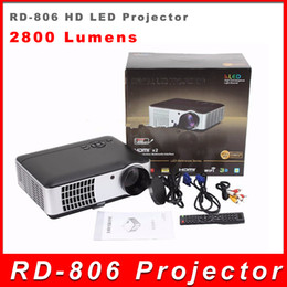 Wholesale Best Lumens RD Multimedia Portable P HD LED Projector HDMI AV USB VGA SD D home cinema theater video game proyector ship DHL
