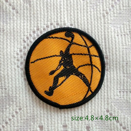 Basketball Sport Round Sew On Patch Shirt Trousers Vest Coat Skirt Bag Kids Gift Baby Decoration