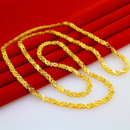 For a long time does not fade and lengthen gold 999 gold necklace gold sweater chain Bride Wedding Jewelry