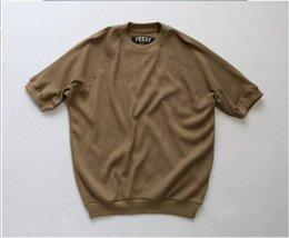 Wholesale kpop shirt Waffle clothes i feel like pablo kanye rock kanye west air justin bieber yeey season yeezus fear of god tee Fifth of the sleeve
