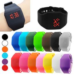 Wholesale 200pcs lot Mix 14colors touch led watch Rubber bands digital rubber unisex men women ultra-thin fashion sport watches LT003