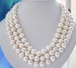 Wholesale Liang Li TRIPLE STRANDS mm south sea baroque white pearl necklace18 inch inch inch S925