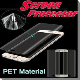Promotion écrans lcd samsung Screen Protector Curved 3D Full Coverage Anti Scratch Surface PET Film LCD Pour bord Samsung Galaxy S7 S7 Bord S6 Plus MOTO Xplay5 Free Ship