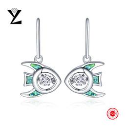 New Fashion 925 Sterling Silver Dancing CZ Diamond Fire Opal Earrings Gold Plated Filled Jewelry Vintage Long Earrings for Women NE33830A