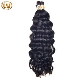 Wholesale Hot Sale A Deep Curly Brazilian Bulk Human Hair For Braiding Unprocessed Human Braiding Hair Bulk No Weft Brazilian Braiding Hair