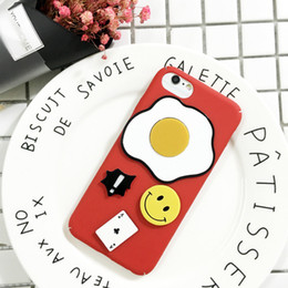 Creative Design Cell Phone Cases Smile Eggs Poker Phone Cover for iphone 7 7 Plus 6S 13