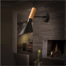 2016 new design Wooden Adjustable Direction Wood Iron Wall Light Sconces Bedroom Bathroom Bar Lamp Modern Rotatable Led Wall Lamps