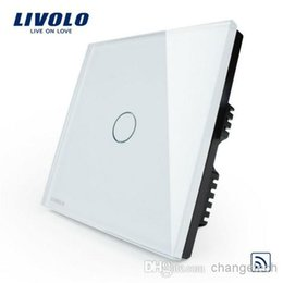 Free Shipping, Switch Manufacturer, Ivory White Crystal Glass Panel, Home Remote Light Switch, UK standard VL-C301R-61