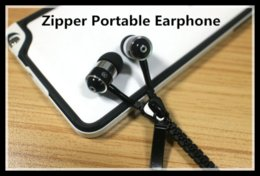 Wholesale The newest zipper portable earphone in store for the iphone samsung htc DHL epacket