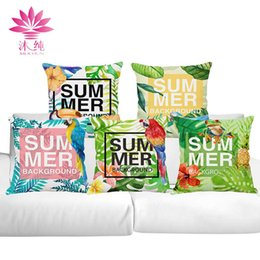 muchun Brand Thicken Pillow Case Summer Series New Year Product 45*45cm Christmas Cotton Linen Home Textiles Sofa Throw Pillow Cover