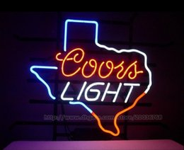 """Coors Light Texas Lone Star Neon Sign Store Eating Restaurant Display Advertisement Real Glass Tube Sign Handcrafted Neon Signs 19""""X15"""""""