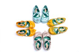 Wholesale Banana Mini Melissa Shoes Summer Sandals Girls Peep Toe Rubber Shoes colors Baby Toddler Shoes Original Quality
