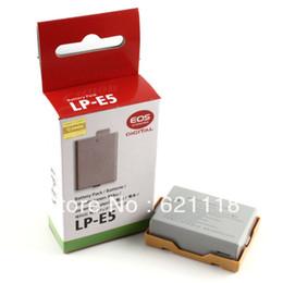 Wholesale 100 New Original Battery LP E5 LP E5 LPE5 Camera Batteries For Canon EOS D D D Digital KISS X2 X3 F Rebel XS T1i XSi
