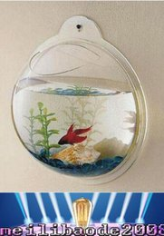 Wholesale NEW Many size Arcylic Wall Mounted Fish Tank Wall Aquariums Easy to Change Water MYY