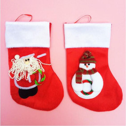 Hot Christmas Gift Socks Decorate Red Two Styles Santa Claus& Snowman Patch Gift Stockings Various Patterns (12pcs lot)