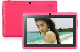 Acheter en ligne Tablette quad core 8gb-7 pouces Q88H Android 4.4 Tablet PC WVGA écran A33 Quad Core 1.3GHz 512 Mo de RAM 8 Go ROM WiFi Lampe de poche
