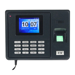 Wholesale New Without Software Color Big Screen Time Record Fingerprint Attendance Machine A208 F6120M